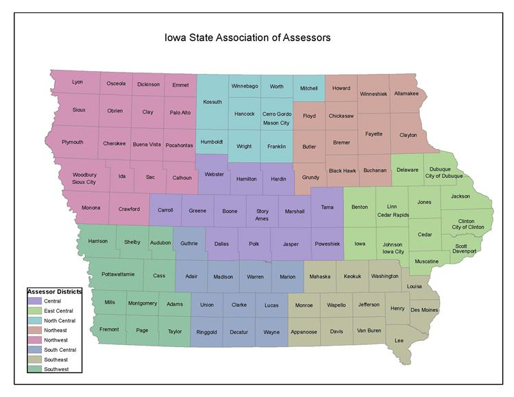 ISAA District Map